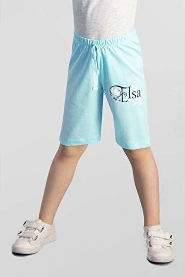Frozen Karlar Ülkesi Elsa - Frozen Lisanslı Mavi Kız Çocuk Bermuda Mavi